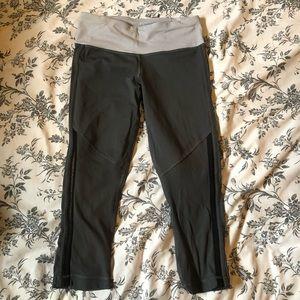 Gray cropped lululemon leggings